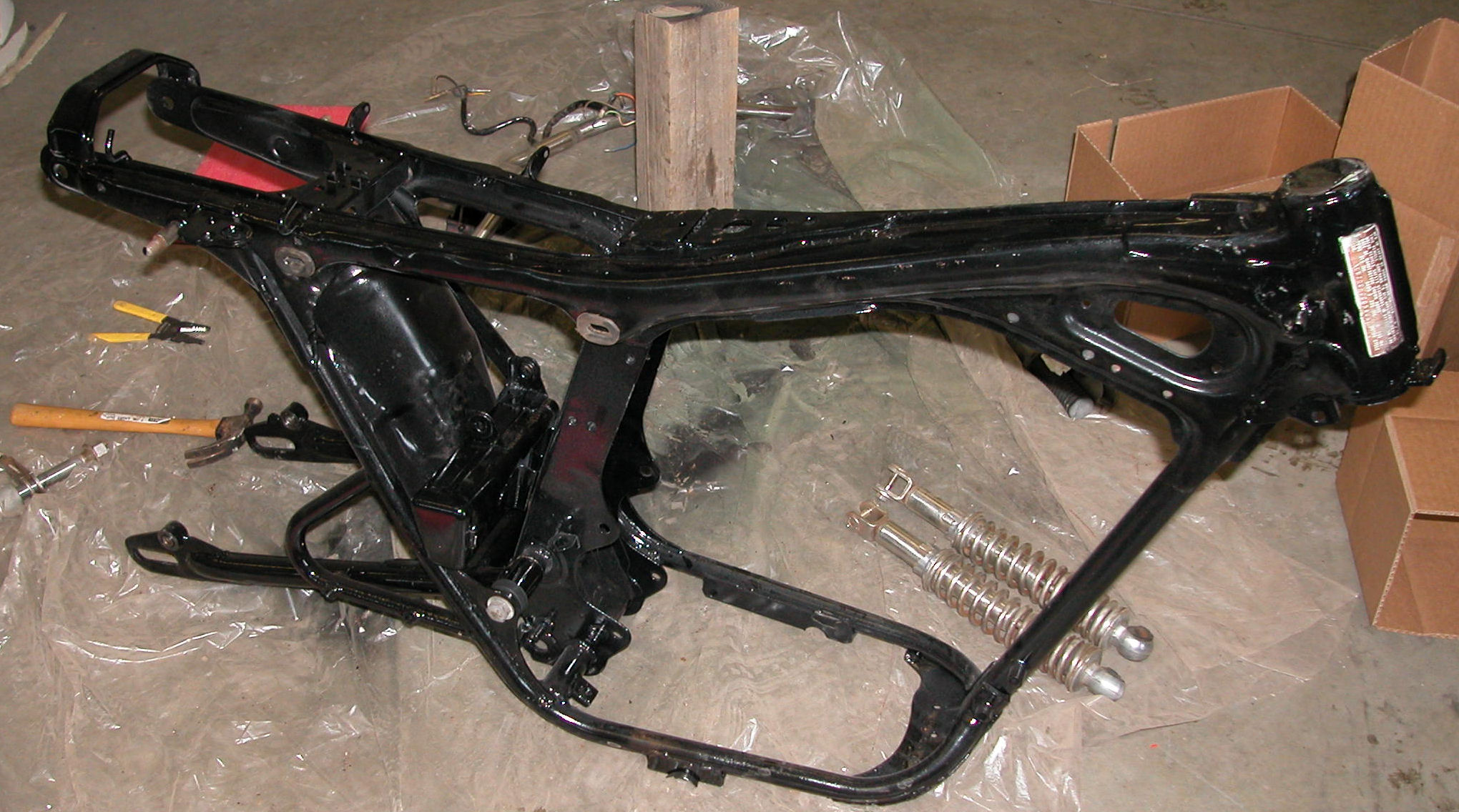 painted frame - Motorcycle Frame Paint
